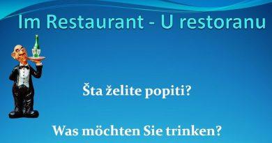 Im Restaurant - Dialog