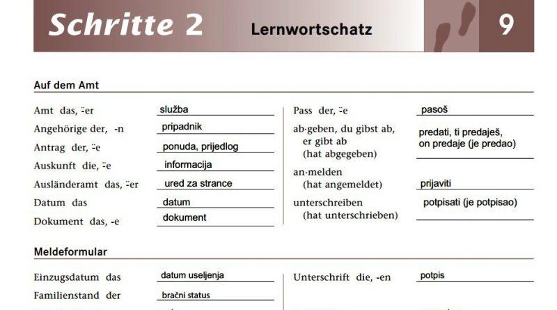 schritte 2 lektion 9